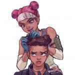 【Apex Legends】レイスとライフはいくらでも可愛くできるけどバンガはもう髪型がね・・